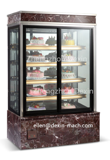 Black Glass Door Cake Display Fridge Refrigeratorhigher Glass Cake