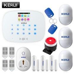 متخصصة KERUI G19 RFID نظام حماية GSM لاسلكي المنزل الذكي نظام إنذار أمان DIY كيت مع السيارات الهاتفي مأخذ (فيشة) ذكي كاشف حركة سينور إنذار