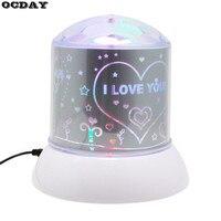 Projector Lamp Romantic Colorful Popular Twilight Night Light LED Laser Light Flashing Atmosphere Lampor Kids Children