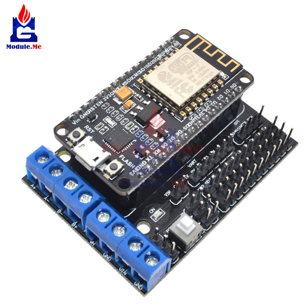 NodeMCU V2 Development Kit NodeMCU + Motor Shield ESP12E WIFI ESP8266 ESP-12E DIY RC Toy Remote Control IoT Smart Car ESP12E