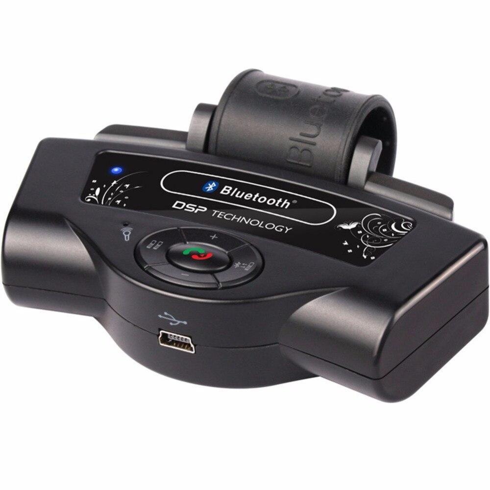 2016 nouveau sans fil Bluetooth volant mains libres voiture haut-parleur intégré Microphone téléphone Kit avec multi-langue
