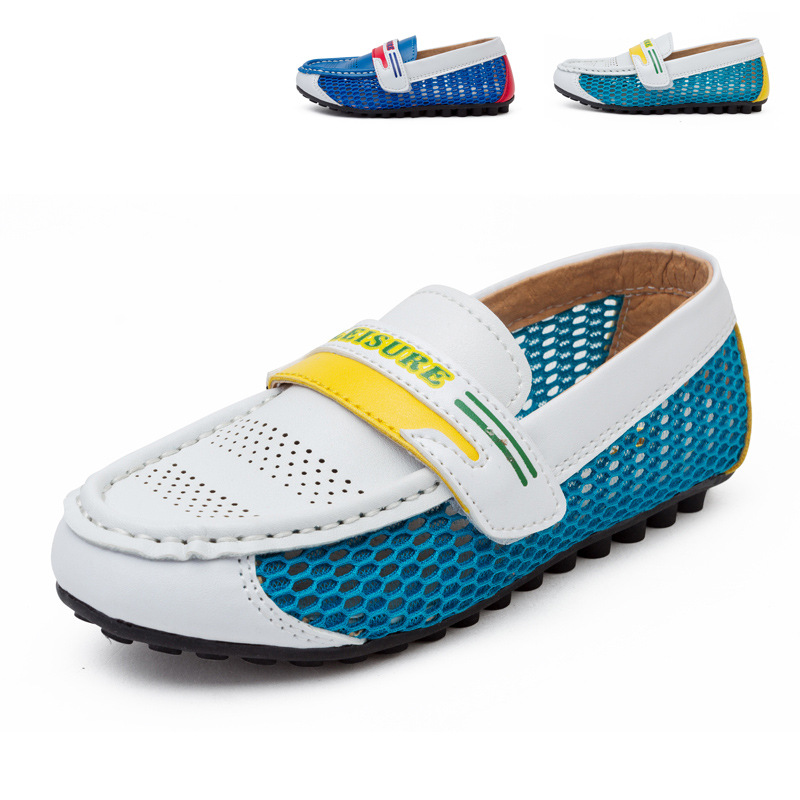 New Baby Boys Girls Breathable Loafers Genuie Leather Casual Child Sneakers Childrens Moccasins Kids Boat Shoes Soft Shoe