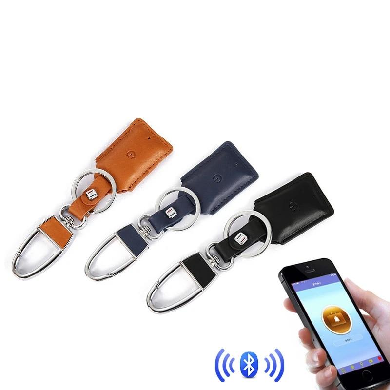Car Smart Key Holder Leather Keychain Anti Lost Keys Finder Wallet Clerk Bluetooth Gps Locator With App Car Key Accessories Key Rings Aliexpress