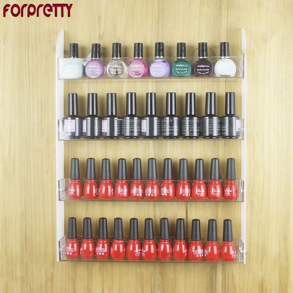 Nail Polish Shelves Forpretty Stand For Gelnagel Repisas Acrilico Wall Prateleira Para Verniz Display Gel Color Organizer Shelf