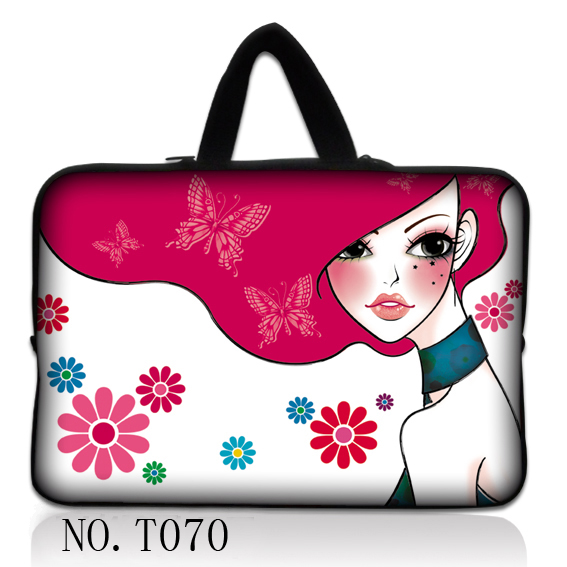 Pink Girl Laptop Bag Soft Zipper Sleeve Case For Macbook Pro Air Neoprene Computer Bag 7.9 10.1 11.6 13.3 14 15.6 17.3