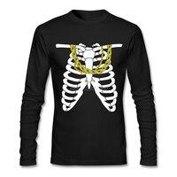 Adult Gold Chains Skeleton Shirts Cheap Wholesale Pre Cotton Tee Shirt Design Customized Pre Cotton Adult
