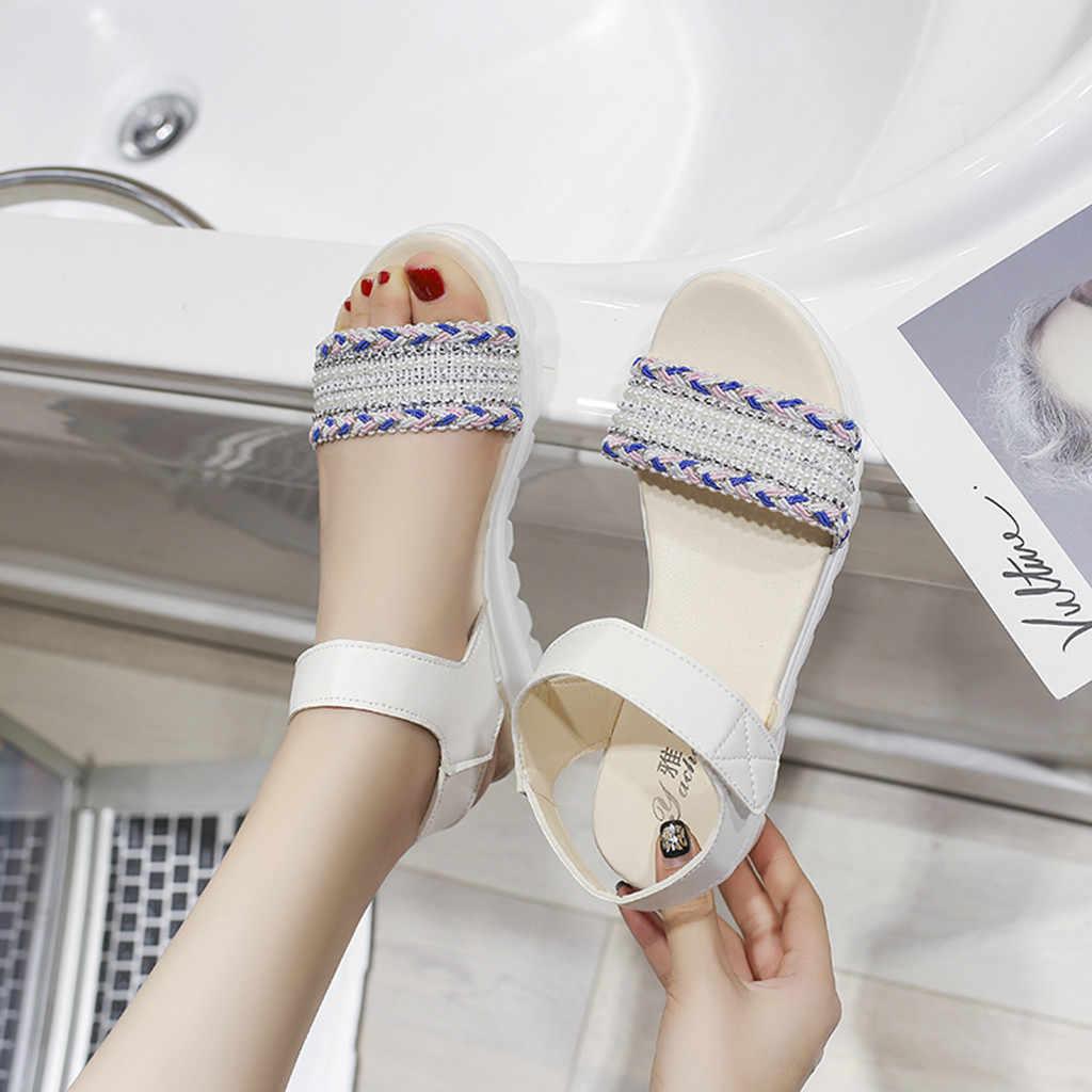 Sagace moda feminina casual aberto toe sandálias cunhas plataformas meninas sapatos de escola alta qualidade sexy fora das senhoras sapatos 2019