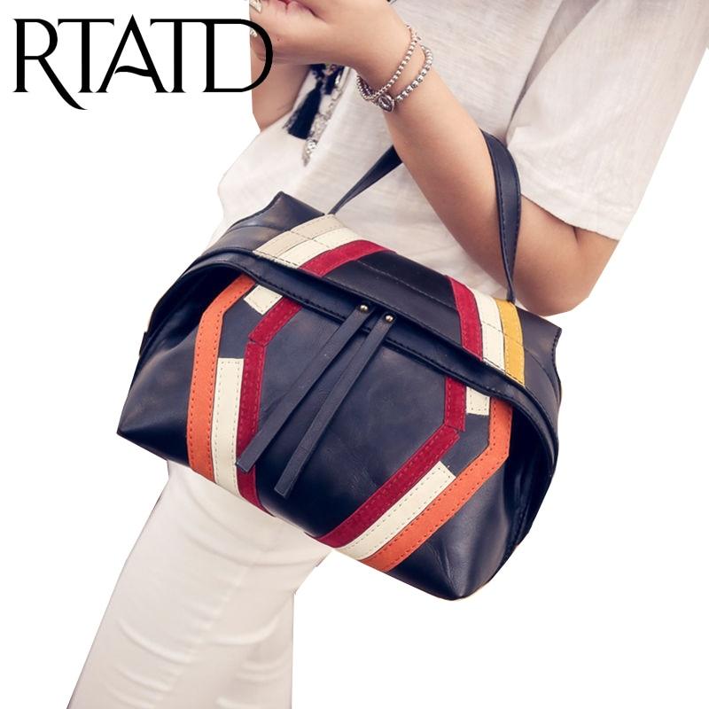 ФОТО Flying fish Famous brand leather hand bag waver bag classical patchwork messenger hand bags easy matching chic bag mochila M2094