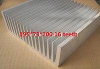 Быстрая Бесплатная доставка Индивидуальные высокой мощности профили радиатора 195*73*200 мм 16 Slice Электрический источника питания большие алюм