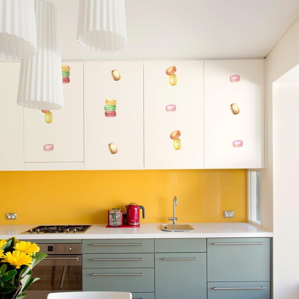 6 Sheets DIY Macaron Wall Stickers Decals Kids Children Room Home ...