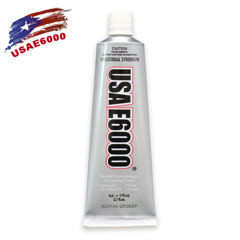 1pcs USA E6000 Clear Liquid Glue Industrial Strength Adhesive For Leather Plastic Acrylic Metal Stick Drill Phone Jewelry Craft