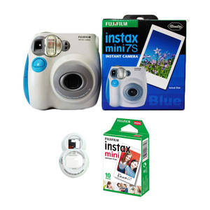 Image 3 - 100% Authentic Fujifilm Instax Mini 7s Instant Photo Film Camera, with 10 Sheets Fuji Instax Mini White Film and Selfie Lens