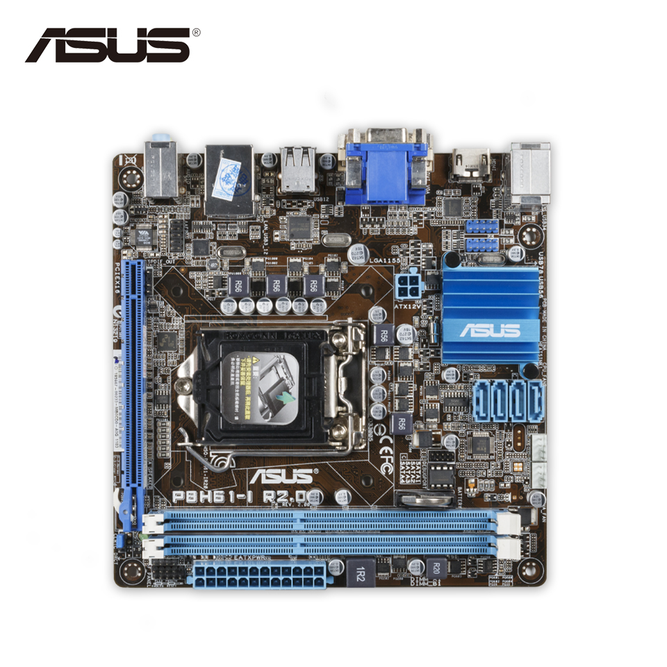 Asus P8H61-I R2.0 Desktop Motherboard H61 Socket LGA 1155 i3 i5 i7 DDR3 16G Mini- ITX On Sale Second-hand High Quality b p r d hell on earth volume 8 lake of fire