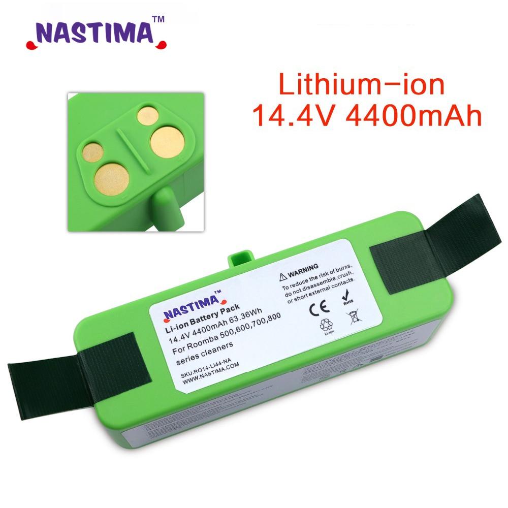 4400 mAh Li-ion Batterie Compatible avec iRobot Roomba R3 500 600 700 800 900 Série 500 550 560 650 690 695 760 770 780 960 980