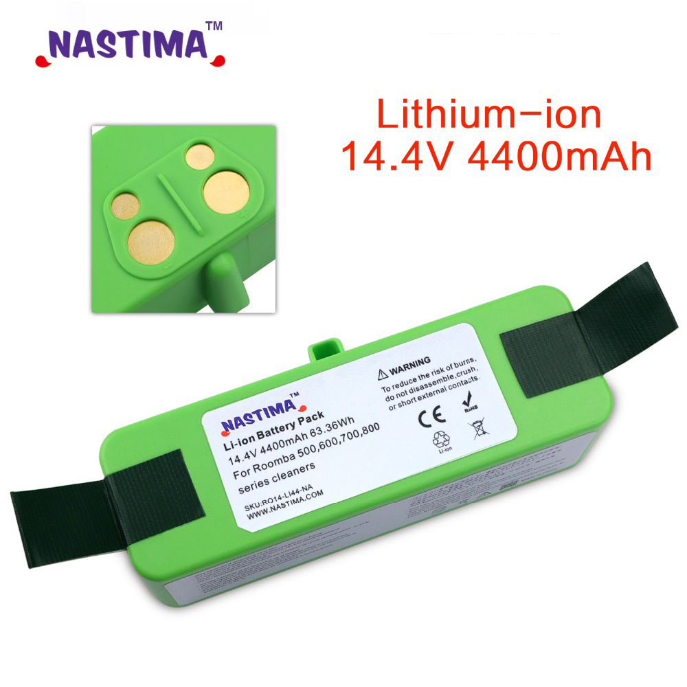 4400mAh Li-ion Battery Compatible with iRobot Roomba R3 500 600 700 800 900  Series 500 550 560 650