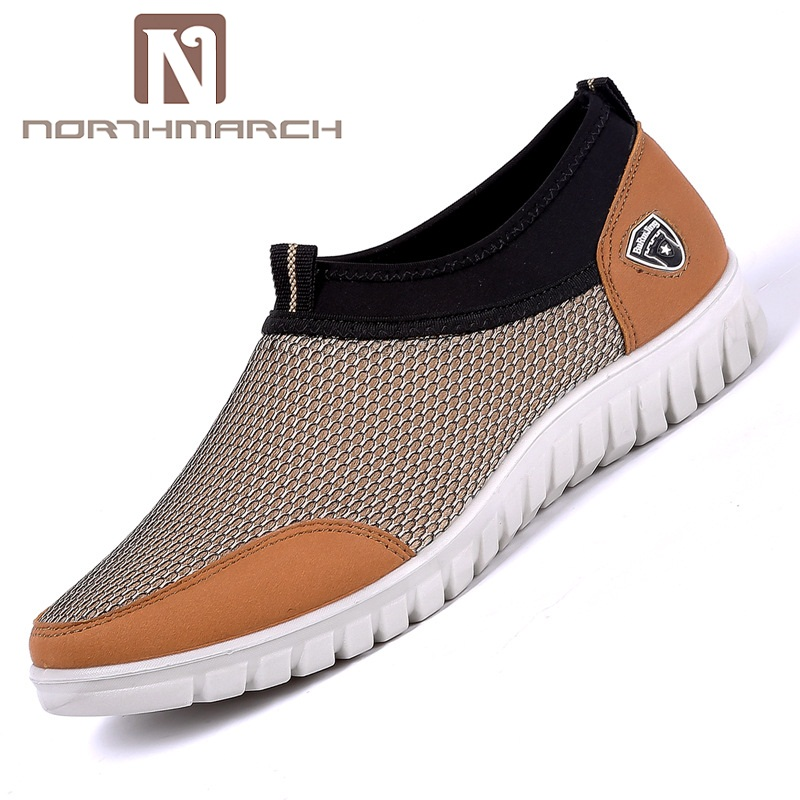 NORTHMARCH Men's Casual Shoes Sneakers Men Summer Slip-On Mesh Breathable Shoes Soft Hard-Wearing Walking Men Shoes Zapatillas
