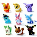 "Новый 9 шт./лот Eevee Sylveon Плюшевые Игрушки 5 ""Umbreon Eevee Espeon Jolteon Вапореон Flareon Glaceon Leafeon Чучела Животных Куклы игрушка"