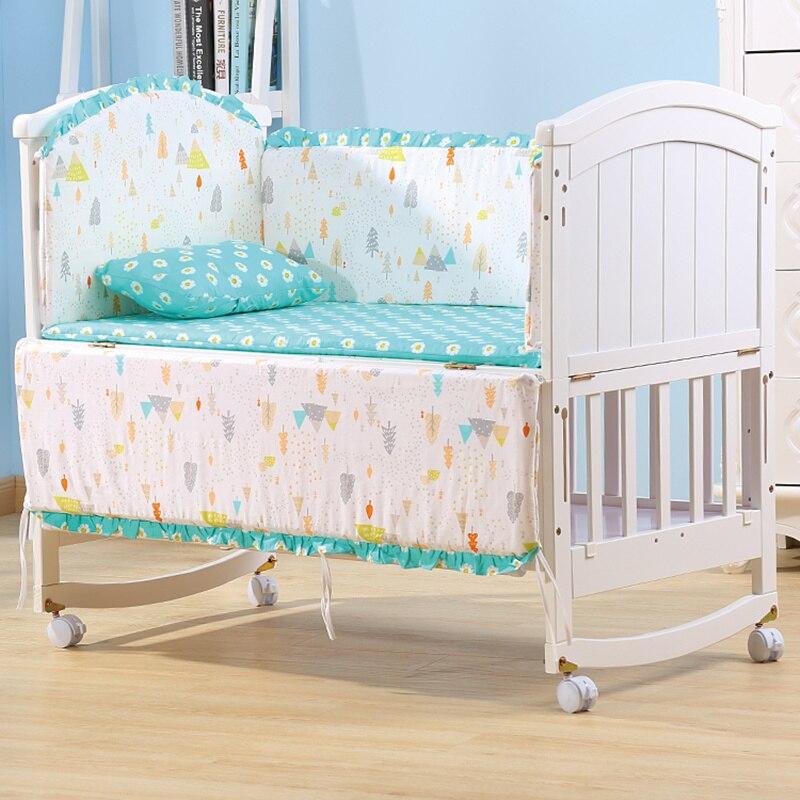 Ensemble de literie pour berceau bébé garçon fille ensemble de pare-chocs pour bébé enfants pépinière bébé lit organisateur pare-chocs oreiller matelas avec remplissage