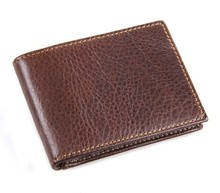 7169R-3 100% Genuine cow Leather Men's fashion Card Holder