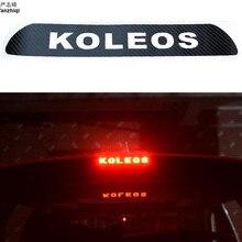 Наклейка для Renault Koleos 2009- стоп-сигналы декоративная крышка высокое крепление стоп-лампы наклейка s углеродное волокно автомобильный Стайлинг 1 шт