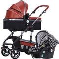 Paisaje de alta cochecitos de bebé puede sentarse puede ser doblado acostado bebé bebé cuatro estaciones generales luz cesta carro de mano