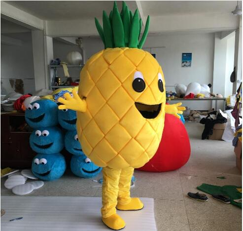 Pineapple Mascot Costume Fruits Vegetables Costume mascot fancy Cartoon costume Free Shipping