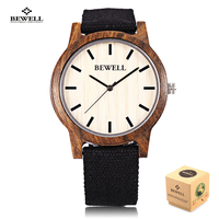 New Bewell Men Wooden Quartz Watch Fashion Casual Full Wood Watches Relogio Masculino Japan Movt Wristwatch