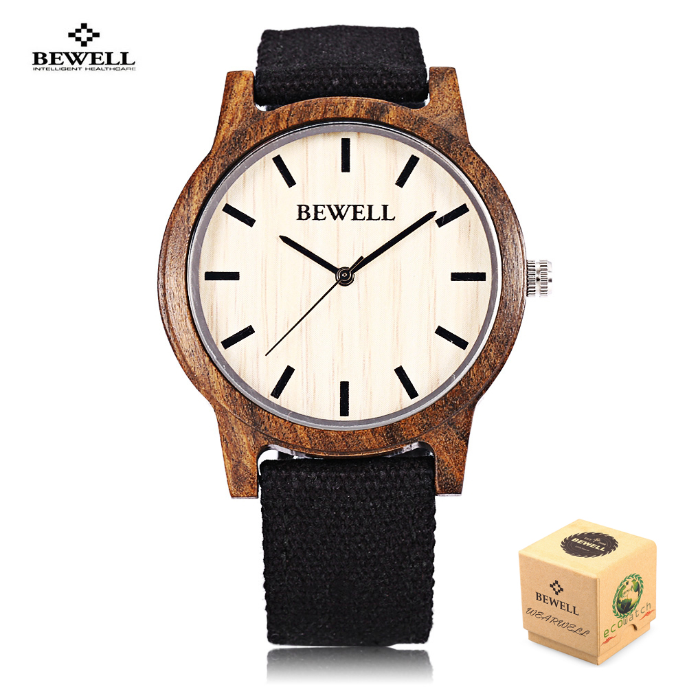 Подробнее о BEWELL 2017 Hot Sell Sports Dress Casual Natural Wood Bamboo Watch Canvas Band Relogio Masculino Best Men Gifts Paper Box 134A 2016 hot sell men dress watch uwood men s wooden wristwatch quartz wood watch men natural wood watches for men women best gifts