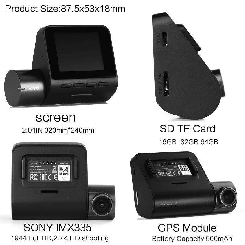 Mi 70mai Pro Dash Cam 1944P GPS ADAS For Car Camera Dvr 70 mai Pro Dashcam Voice Control 24H Parking Monitor WIFI Vehicle Camera - 3