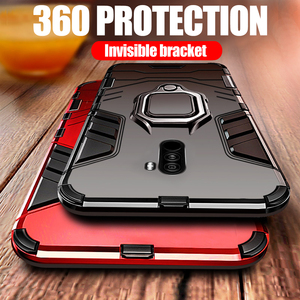 Image 1 - Luxury Armor For Xiaomi Pocophone F1 Case Shockproof PC+TPU Protective Back Cover For Poco F1 Case Magnetic Holder Ring Bracket