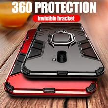 Sang Trọng Vỏ Giáp Cho Xiaomi Pocophone F1 Ốp Lưng Chống Sốc PC + TPU Bảo Vệ Mặt Sau Cho Poco F1 Ốp Lưng Giá Đỡ Nam Châm vòng Chân Đế