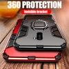 Роскошный защитный чехол для Xiaomi Pocophone F1, ударопрочный чехол из поликарбоната + ТПУ, защитный чехол для Poco F1, магнитный держатель, кольцевой кронштейн