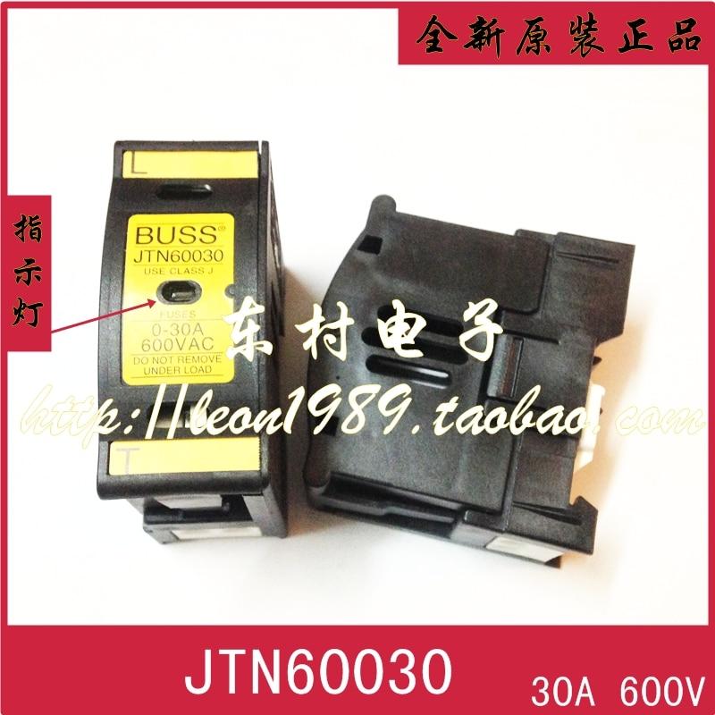 [SA] états-unis BUSSMANN porte-fusible JTN60030 JT60030 0 ~ 30A 600 V 21*57mm -- 2 PCS/LOT