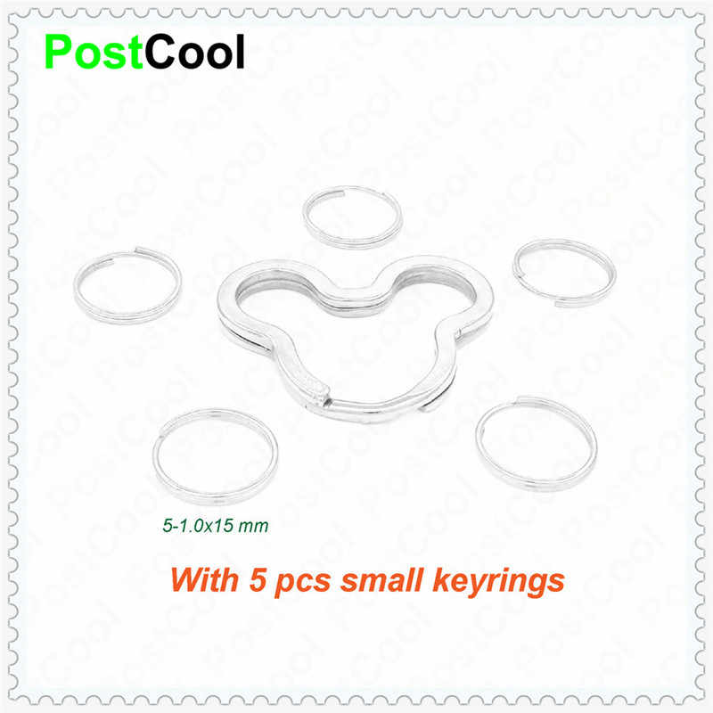 Fashion Jewelry with 5 small keyrings Mice/Egg/Heart/Apple for Keyfob/Key Holder/Split Rings/Keychain/Accessories DIY