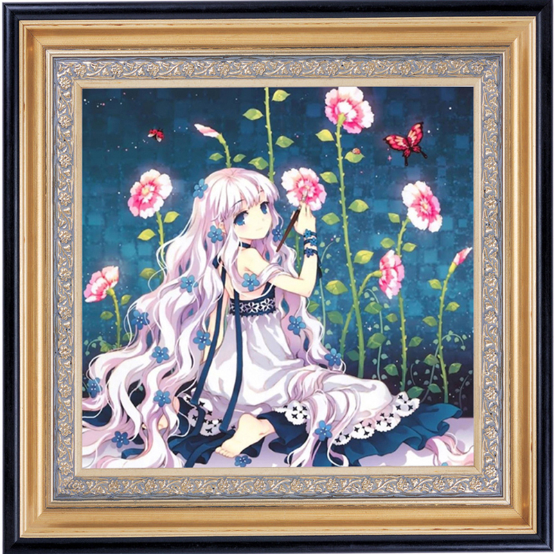 Diamond Painting Fairy Anime Diamond Embroidery Cartoon Characters Pictures By Numbers Set For Embroidery Stitch Good-Looking