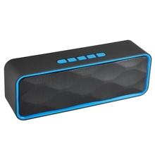 лучшая цена Mini Bluetooth Speaker Portable Column Bass Subwoofer Support Fm Radio Aux Usb Tf Card Hifi Portable Speaker For Computer Ipho