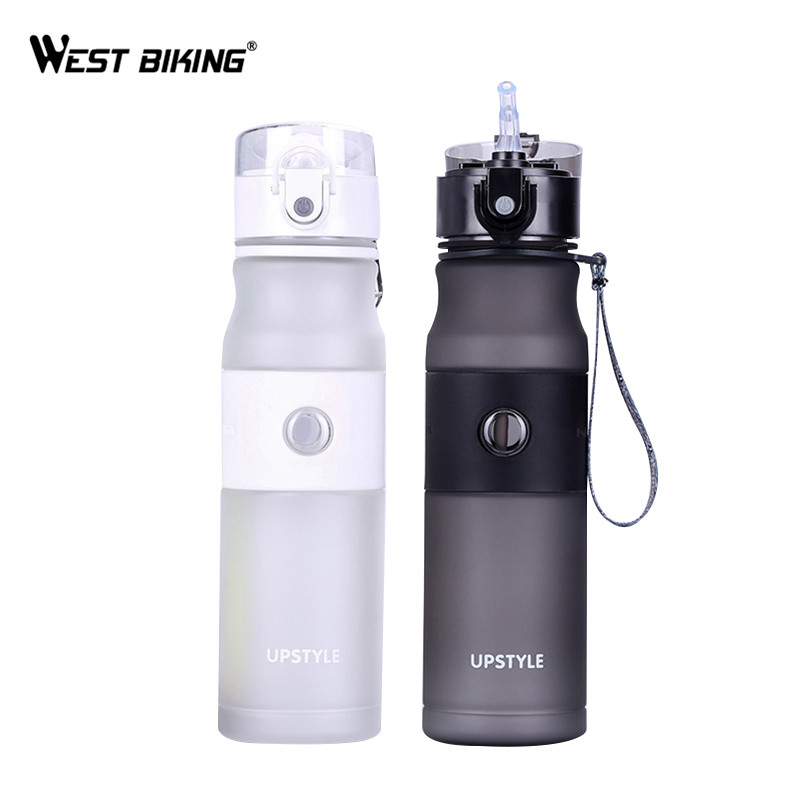 WEST BIKING Cycling Sport Water Bottle Professional Leak-Proof Bicycle Water Cups Portable 620ML Camping Travel Outdoor Kettle