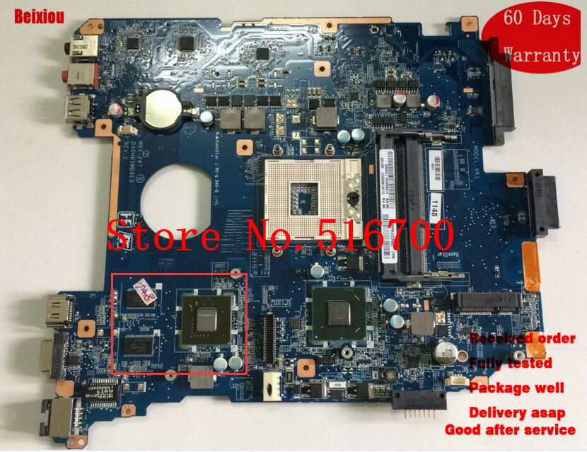 For Sony VPCEH laptop motherboard MBX-247 DA0HK1MB6E0 Intel CPU 100/% tested