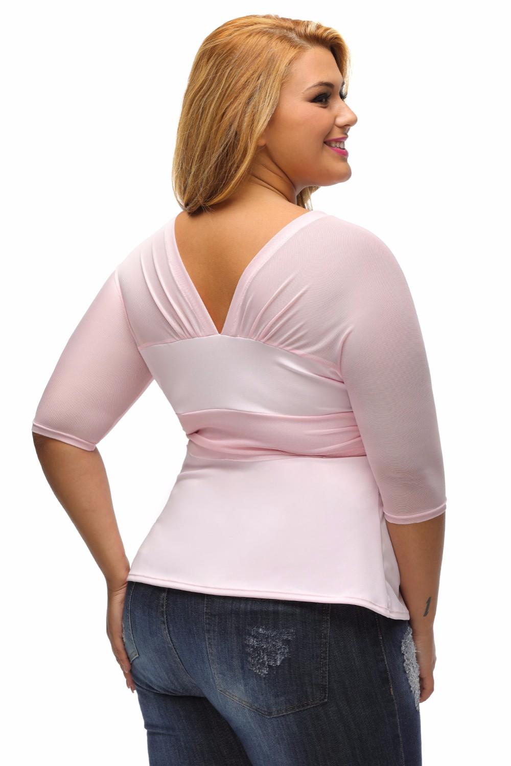 Pink-Pretty-Peplum-Mesh-Plus-Size-Top-LC25958-10-5