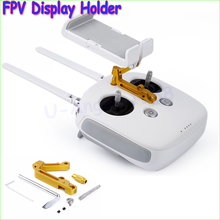 1pcs Remote Control CNC Aluminum FPV Display Holder for DJI Phantom 3 Inspire 1 Wholesale