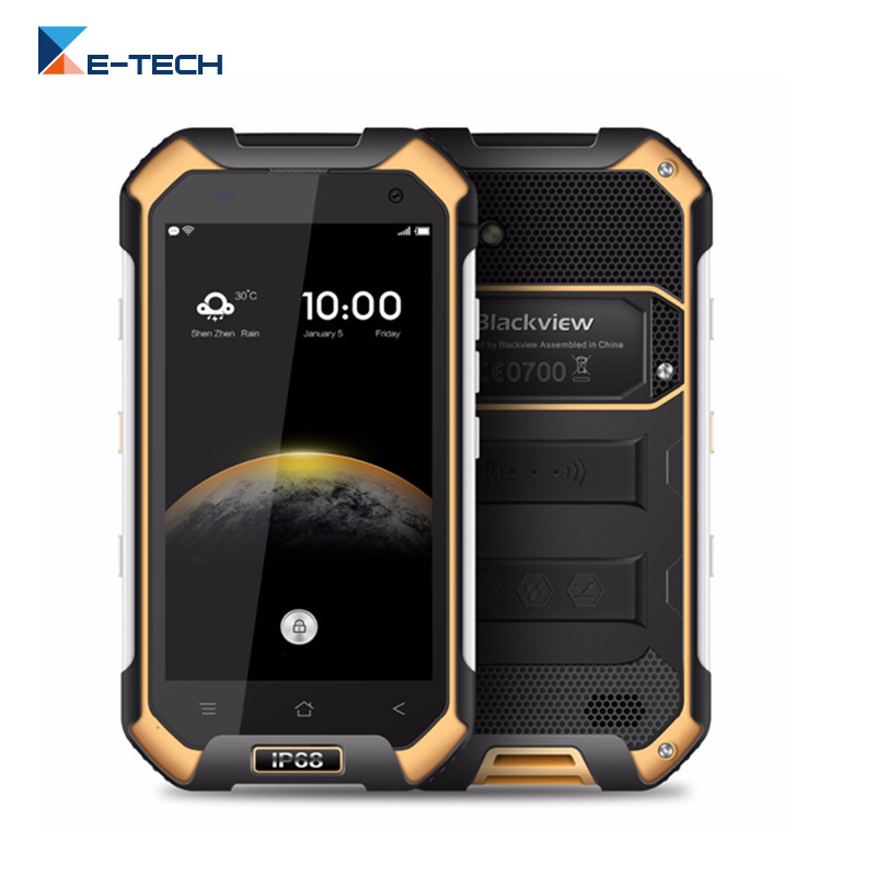 "Цена за Оригинал Blackview BV6000 Смартфон 4 Г LTE Водонепроницаемый IP68 4.7 ""HD MT6755 Окта основные Android 6.0 3 ГБ RAM 32 ГБ ROM 13MP Мобильный Телефон"