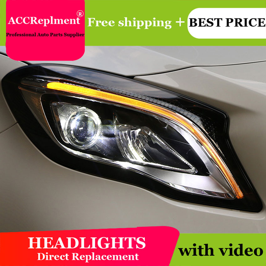 buy car styling for benz gla headlights angel eyes 2015 2018 for benz gla led. Black Bedroom Furniture Sets. Home Design Ideas