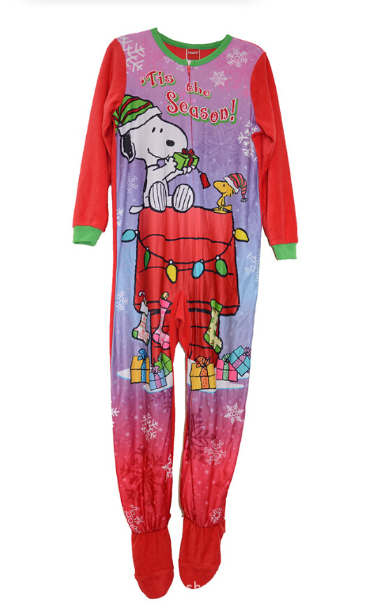 78e0cda3d8 2015 Kids Clothing New girls long sleeve One Piece polyester rompers onesie  footed pajamas sleepwear sleeper red 6pcs lot-in Rompers from Mother   Kids  on ...