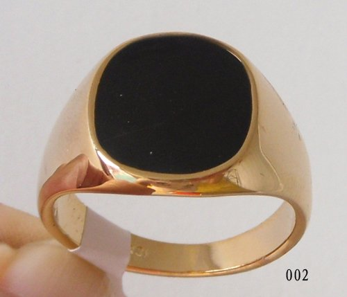 Free Shipping Generous Black yx 18kgp Yellow Gold Ring Can mix