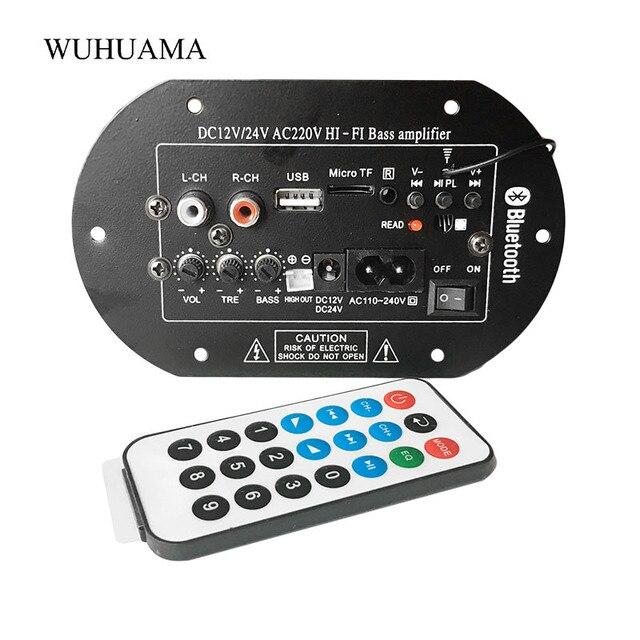 Subwoofer Amplifier Board Car FM Raido Bluetooth Audio Amplifiers 12V 24V 220V For 5 8inch RCA Bass Speakers  DIY
