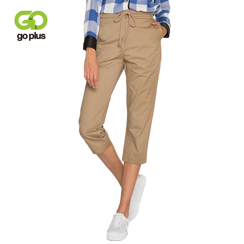 GOPLUS 2019 Fashion Spring Solid High Waist Harem Pants Women Lace up Trousers Lady Casual Streetwear Pencil pantalones Female