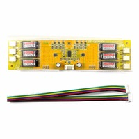 6 Lamp CCFL Universal Inverter Board For LCD Screen Monitor With Samll Connector