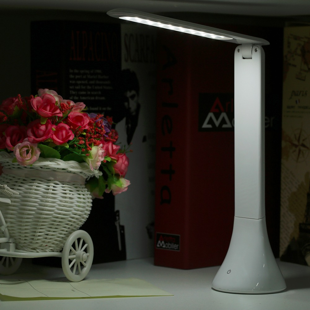 New Superior USB Rechargeable Touch Sensor LED Desk Table Light Dimmable Foldable Lamp LED Reading Light Table Lamp Stylish