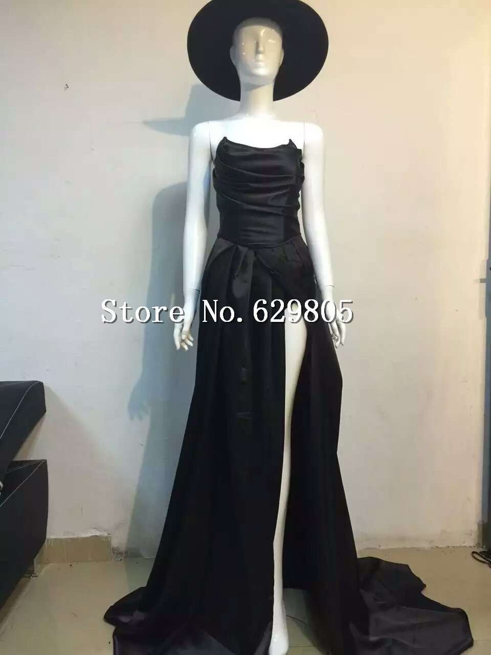 Black Long Skirt Girly Dj Ds Female Singer Costumes Big Full Dress Formal Dress Clothing Set Performance Nightclub Dance Wear