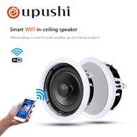 Oupushi vx6 Wi Fi потолочный динамик в настенный динамик для использования системы pa семейная фоновая музыка; Система домашнего кинотеатра